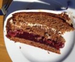 Kirsch-Straciatella-Torte