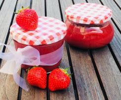 Marmelade mit pflanzlichem Geliermittel ohne Zucker