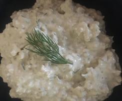 Dip von Manzanilla Oliven mit Lachscreme