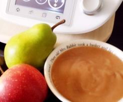 Apfel-Birnen-Mus mit Vanilleknutschi