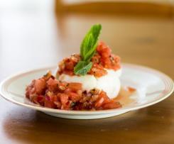 Büffelmozzarella mit Wassermelonensalsa