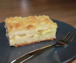 Rhabarberkuchen mit Quark und Streusel