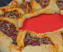 Pizzakranz à la quattro stagioni
