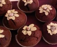 Variation von Schokoladen-Muffins