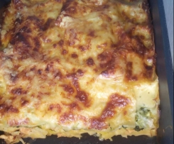 Wirsing-Lachs-Lasagne
