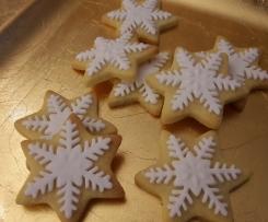 Schneeflocken-Plätzchen