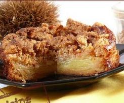 Mini-Unsichtbare Kuchen mit Äpfeln und Gewürzstreuseln