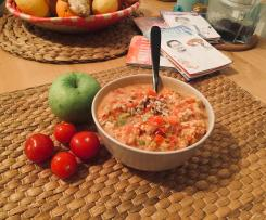 Tomaten Mozarella Salat mit Apfel