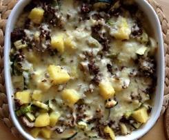Kartoffel-Gemüse-Auflauf mit Hackfleisch