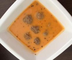 Türkische Joghurtsuppe mit Hackbällchen