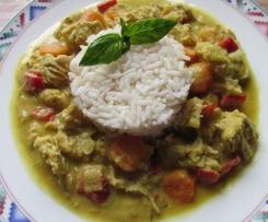 Puten Curry mit Kokos-Mango Sauce