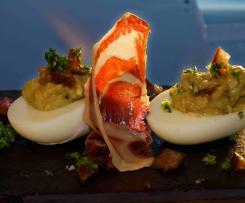 Tapas - Eier  gefüllt mit Guacamole (Pikant)