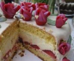 Erdbeer-Limetten-Sahnetorte