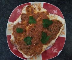 Türkische Pizza Lahmacun