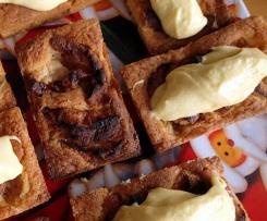 Bretonische Shortbreadtörtchen mit Apfel und Vanille-Schoko-Creme aus der 9er Backform