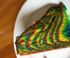 Regenbogenkuchen, Ideal für Kindergeburtstag
