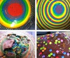 Regenbogenkuchen Ideal Fur Kindergeburtstag Von Allium Ein