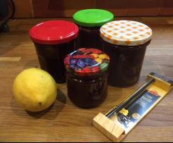 Kirschmarmelade mit Zitrone und Vanille