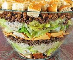 Party Burger: Big Mac Salat