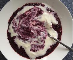 Heidelbeer-/ Blaubeer-Porridge