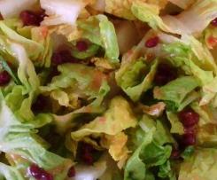 fruchtiges Preiselbeer Dressing zu Salat (Feldsalat, Romana,... )