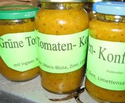 Variation von Grüne Tomaten - Konfitüre