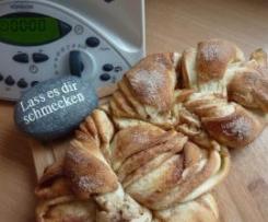 Riesen-Franzbrötchen oder Variation von Schweizer Sonntagsstuten bzw. Hefezopf