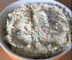 Möhren-Frischkäse-Dip mit Schnittlauch