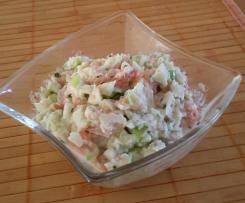 Erfrischender Lachs-Apfel-Salat