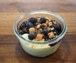 Heidelbeertopping für Vanillecreme oder -pudding