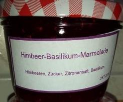 Himbeer Basilikum Marmelade