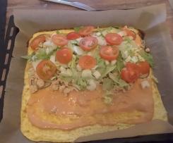Low Carb - Big Mac Rolle mit Geflügelhack