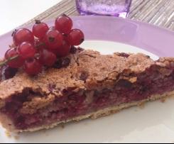 Johannisbeer-Baiser-Kuchen, schwäbischer Träubleskuchen