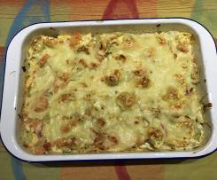 Tortellini-Spitzkohl-Auflauf
