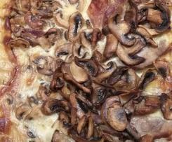 Camembertbraten mit Champignons