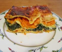 Spinat-Möhren-Lasagne