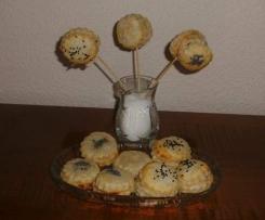 Blätterteig-Lollis oder Cake-Pops