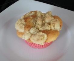 Apfel-Muffins mit Knusper-Zimt-Streusel