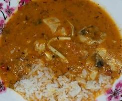 Thai Fischeintopf/-suppe mit Kokosmilch