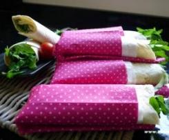 Wraps mit Lachs-Frischkäsecreme und Rauke