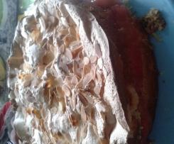 Erdbeer-Rhabarber-Baisertorte/-kuchen