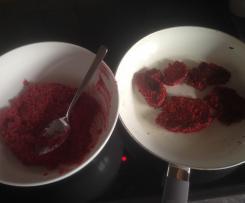 Rote Beete - Hirsebratlinge - vegan