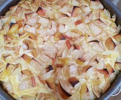 Schneller fettarmer Apfelkuchen aus Dinkelvollkornmehl mit Quark