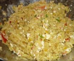 Griechischer Kritharaki- Salat