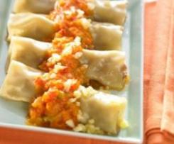 Cannelloni mit Hackfleisch und Gemüsesauce