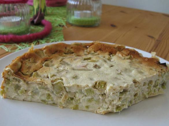Rhabarberkuchen Ohne Boden Oder Rhabarber Quark Dessert Von