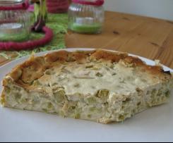 Rhabarberkuchen ohne Boden oder Rhabarber-Quark-Dessert