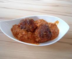 Fleischbällchen Toskana mit Reis
