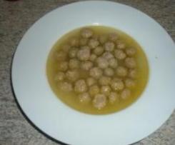 Fleischklösschen ( f. Suppe od. Fleischbeilage )