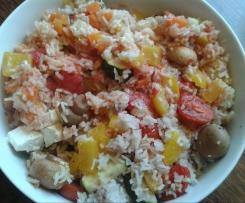 Tomaten - Paprika - Möhren - Zucchini - Reis mit Fetakäse